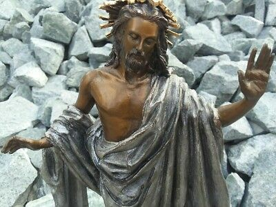 """Franklin Mint """"JESUS NOW AND FOREVER"""" Sculpture cast Bronze Limited edition!"""