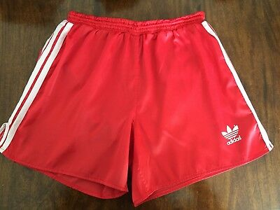b5bb91b7ab Adidas Original 90s Retro Red White Shorts Liverpool L 38 Vintage Sprinter  Sport