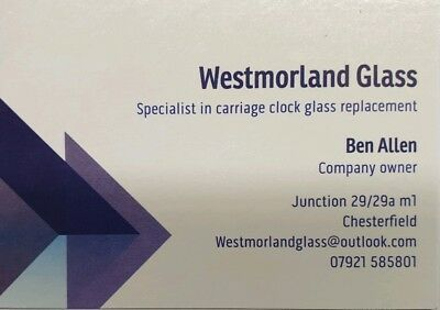 Bevelled glass. Carriage clock glass bevelling service.