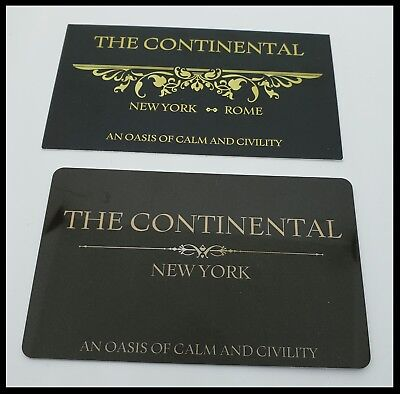 John Wick Continental Hotel Room Card Key Reeves Mcshane Coin Baba Yaga  Berry