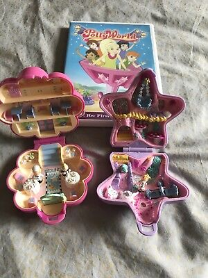 2 Vintage Polly Pocket Toys And DVD