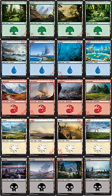 MTG Dominaria DOM Basic Land  x 20 - Island, Forest, Plains, Swamp, Mountain New