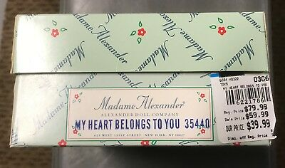 "Vintage Madame Alexander doll ""My Heart Belongs to You"" mint in box"