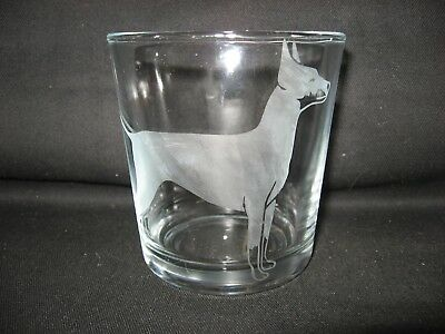 New Etched Manchester Terrier Old-Fashioned Rocks Glass Tumbler
