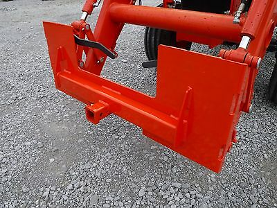 Kubota Skid Steer Attachment Trailer Hitch Receiver Mount Plate - Free Ship
