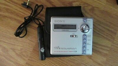 ++++++++++ Sony Mz-N707 Minidisk Player With Case/remote And Disks ++++++++++