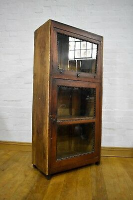 Antique style rustic tall bookcase / display cabinet / collectors case