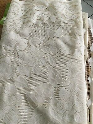 "Vintage Lace Tablecloth With Scalloped Edges 80""x60"""