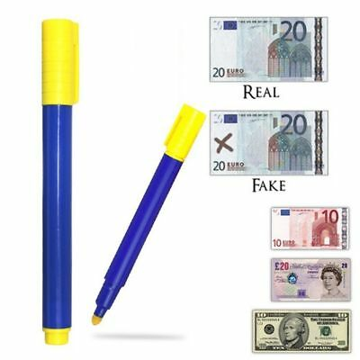 Bank Note Checker Counterfeit Pens Fake Money Forged Detector Tester Marker New