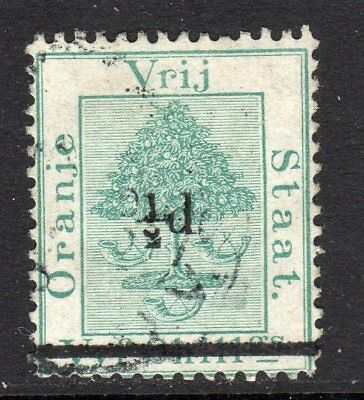 Orange River 1882 Surch ½d on 5s Green SG36 Used