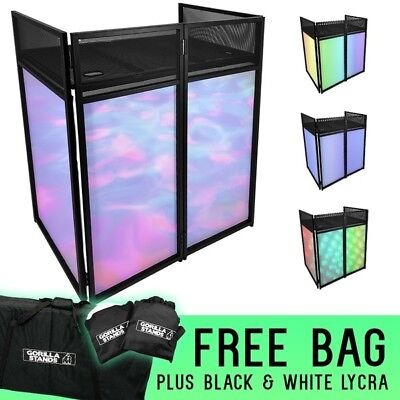 Gorilla DBS Lite DJ Mobile Disco Booth Stand System with Shelf & Lycra Cloths