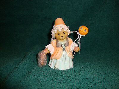 Cherished Teddies Scary Masquerade Bonnie Medieval Lady Halloween Figurine New