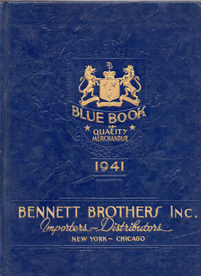Bennett Brothers Catalog 1941 Blue Book Jewelry Watches Silver Ware