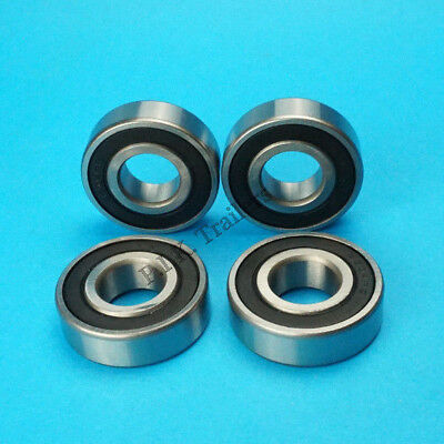 Set of 4 6204RS Sealed Wheel Bearings for 115mm PCD Hubs Trelgo Franc Trailer
