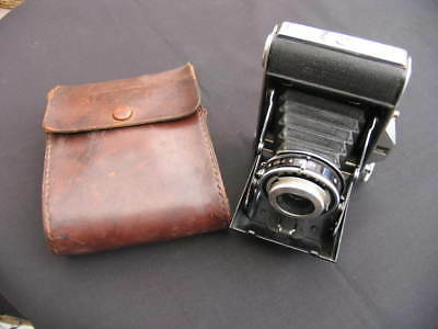 Ensign 1620 Folding Camera With Ensign Leather Case