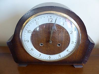 SMITHS Mantel Striking Clock Working circa 1960 - COLLECTION ONLY from MK43 area