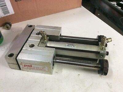 PHD Slide & Cylinder Guided Unit, Pneumatic, SD Series, SDB25X5-AE-BR-PB, Used