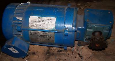 Dayton Electric 1/2 HP Motor, Mod# 3N858 w/ Gearbox, 230/460 V, Used, Warranty