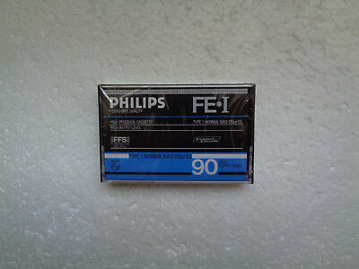 Vintage Audio Cassette PHILIPS FE*I 90 * Rare From 1984 * 2nd Version