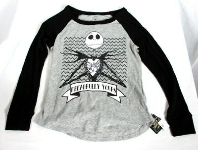 NWT Disney Nightmare Before Christmas Pajama Top L/S Womens XS Dreadfully Yours