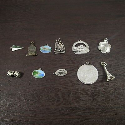 Travel Charms Vintage Sterling Silver / Silver | Lot of 11 | 23.1g