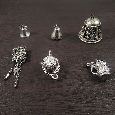 Mechanical Charms Vintage Sterling Silver / Silver | Lot of 6 | 23.1g