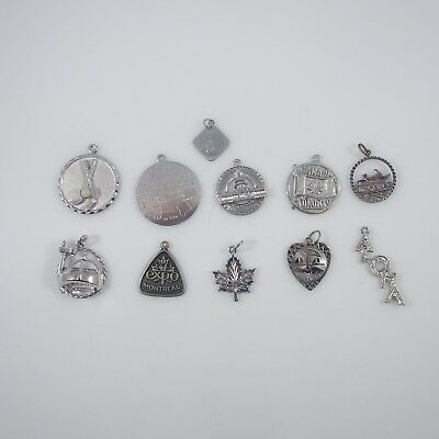 Travel Charms Vintage Sterling Silver | Lot of 11 | 29.0g