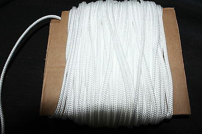 20 Metres White Nylon Braided Cord Thread Twine  2mm ./ best buy!//.