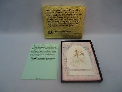 Antioch Sticker Bookplates GIRL WITH DOLL FROM THE LIBRARY OF 30 in opened box