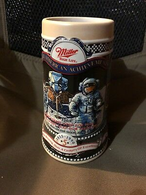 Miller High Life NASA Space 1855-1990 Beer Stein 5th In Series Made In Brazil