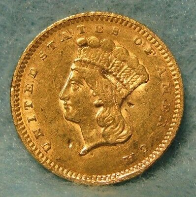 1857 Indian Princess $1 GOLD Coin XF-AU Details * US Coin