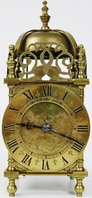 Rare Antique 19thc 8 Day Brass Top Bell Striking Carriage Lantern Mantle Clock