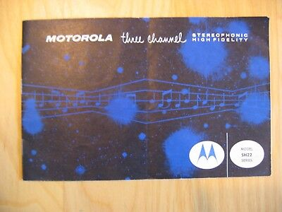Vintage MOTOROLA Three Channel Stereo Hi-Fi Brochure Model SH22