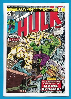 "Incredible Hulk #183_January 1975_Vf/nm_""living Dynamo Returns""_Bronze Age!"
