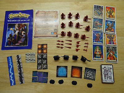 Heroquest Wizards of Morcar 100% Complete (unboxed) Hero Quest MB