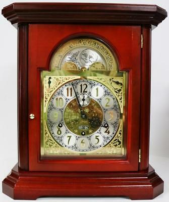 Rare Kieninger 9 Bell Mahogany & Glass 3 Chime Musical Regulator Bracket Clock