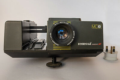 35mm Reflexa slide projector with remote control and carry handle