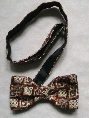 Bow Tie Mens SILK Bowtie Adjustable Frederick Theak Dickie ABSTRACT