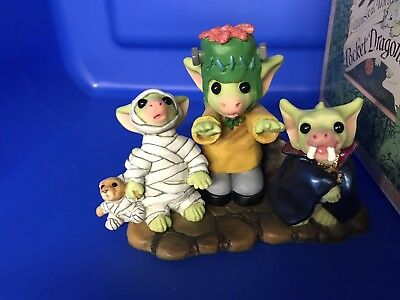 Pocket Dragons Terrible Trio Of Terror Limited Edition #2367/ 4500. COA