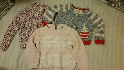 Girls Next And M&S Jumpers cardigans Age 12-18 Months