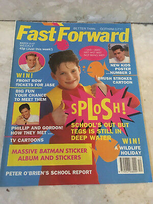 FAST FORWARD Magazine Issue 28 New Kids Poster Vintage Retro 1990 March 21-27