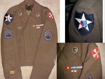 2nd Infantry Division 8th Army infantryman's Ike jacket - Size: large