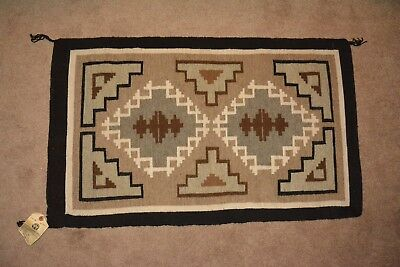 "Vintage Navajo rug  37"" x 22""  from Hubble trading post sold at Museum of NAZ"