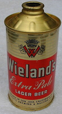 Vintage Wieland's Extra Pale Lager Cone Top Beer Can, San Jose, Cal Near Mint!