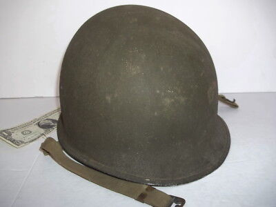 1942 Superb! WW2 '341B' FIXED BALE McCord 1st pat. US M-1 HELMET w/OD-3 Chin