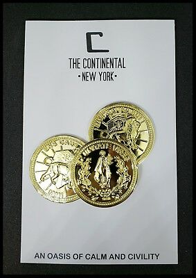 John Wick Starter Set The Continental Hotel  Oath Sdcc Devil Pop Coin Sticker 11