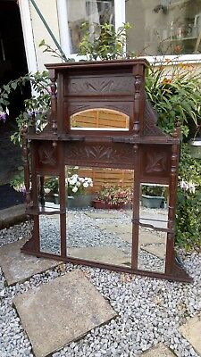 Antique Hall/ Dresser Mirrored Wall Stand