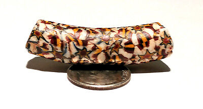 Antique Venetian Red Center Murine Elbow African Glass Trade Bead