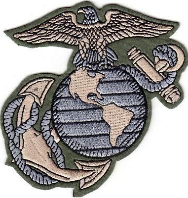 US Marine Corps Logo Iron On Patch Marines USMC Military Motto Semper Fi