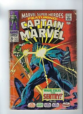 Marvel Super-Heroes featuring Captain Marvel #13 2nd Captain Marvel 4.5